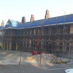 Large scaffolding construction