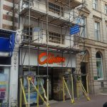 Scaffolding commercial building